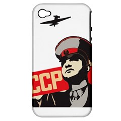 Soviet Red Army Apple Iphone 4/4s Hardshell Case (pc+silicone)
