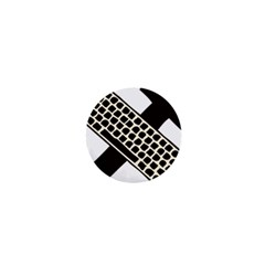 Hammer And Keyboard  1  Mini Button Magnet