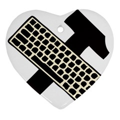 Hammer And Keyboard  Heart Ornament