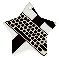 Hammer And Keyboard  Star Ornament