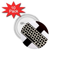 Hammer And Keyboard  1.75  Button (10 pack)
