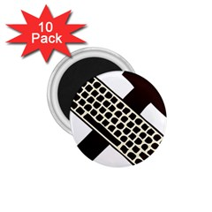 Hammer And Keyboard  1.75  Button Magnet (10 pack)