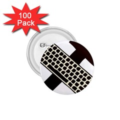 Hammer And Keyboard  1.75  Button (100 pack)
