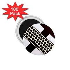 Hammer And Keyboard  1.75  Button Magnet (100 pack)