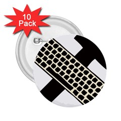 Hammer And Keyboard  2.25  Button (10 pack)