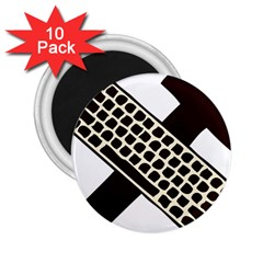 Hammer And Keyboard  2 25  Button Magnet (10 Pack)