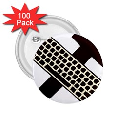 Hammer And Keyboard  2.25  Button (100 pack)