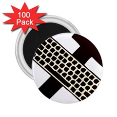 Hammer And Keyboard  2 25  Button Magnet (100 Pack)