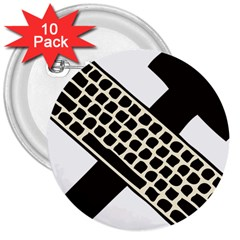 Hammer And Keyboard  3  Button (10 pack)