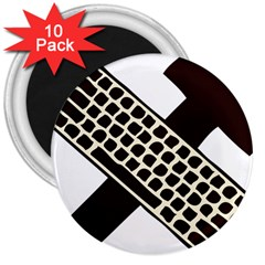 Hammer And Keyboard  3  Button Magnet (10 pack)