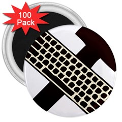 Hammer And Keyboard  3  Button Magnet (100 Pack)