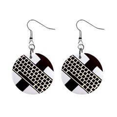 Hammer And Keyboard  Mini Button Earrings