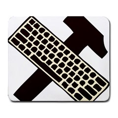 Hammer And Keyboard  Large Mouse Pad (Rectangle)