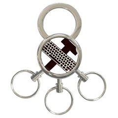 Hammer And Keyboard  3-Ring Key Chain
