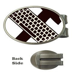 Hammer And Keyboard  Money Clip (Oval)