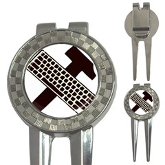 Hammer And Keyboard  Golf Pitchfork & Ball Marker