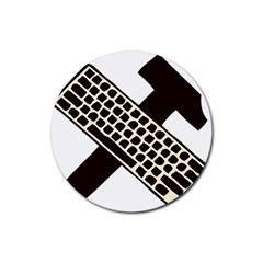 Hammer And Keyboard  Drink Coaster (Round)