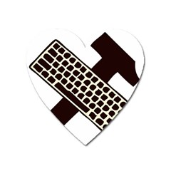 Hammer And Keyboard  Magnet (heart)