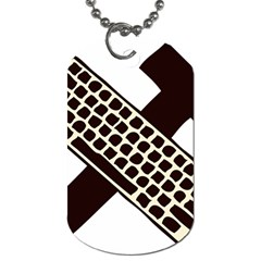 Hammer And Keyboard  Dog Tag (One Sided)