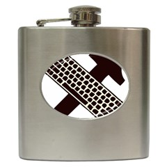 Hammer And Keyboard  Hip Flask