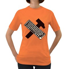 Hammer And Keyboard  Womens' T-shirt (Colored)