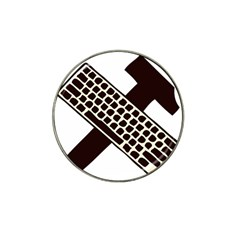 Hammer And Keyboard  Golf Ball Marker (for Hat Clip)