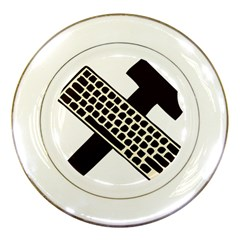 Hammer And Keyboard  Porcelain Display Plate