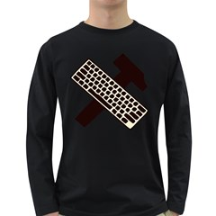 Hammer And Keyboard  Mens' Long Sleeve T Shirt (dark Colored)