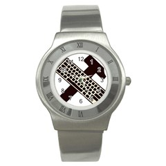 Hammer And Keyboard  Stainless Steel Watch (Unisex)