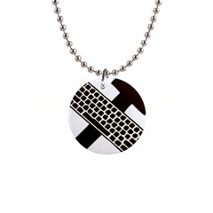 Hammer And Keyboard  Button Necklace