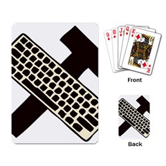 Hammer And Keyboard  Playing Cards Single Design