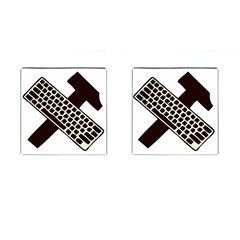 Hammer And Keyboard  Cufflinks (Square)