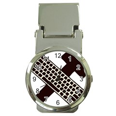 Hammer And Keyboard  Money Clip with Watch