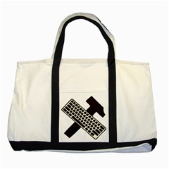 Hammer And Keyboard  Two Toned Tote Bag