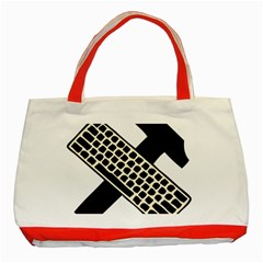 Hammer And Keyboard  Classic Tote Bag (Red)