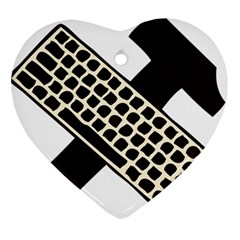Hammer And Keyboard  Heart Ornament (two Sides)