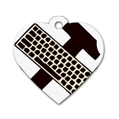Hammer And Keyboard  Dog Tag Heart (One Sided)