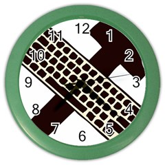 Hammer And Keyboard  Wall Clock (Color)