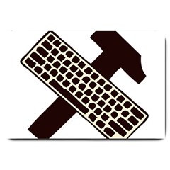 Hammer And Keyboard  Large Door Mat