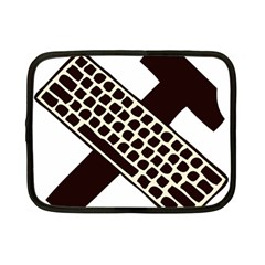 Hammer And Keyboard  Netbook Case (Small)