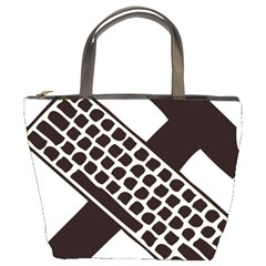 Hammer And Keyboard  Bucket Bag