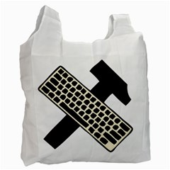 Hammer And Keyboard  Recycle Bag (One Side)
