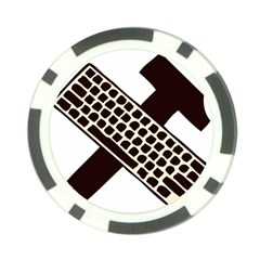 Hammer And Keyboard  Poker Chip 10 Pack