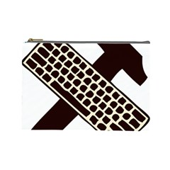 Hammer And Keyboard  Cosmetic Bag (Large)