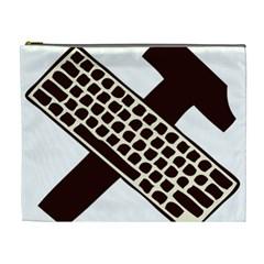 Hammer And Keyboard  Cosmetic Bag (xl)