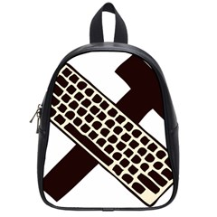 Hammer And Keyboard  School Bag (small)