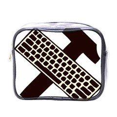 Hammer And Keyboard  Mini Travel Toiletry Bag (One Side)
