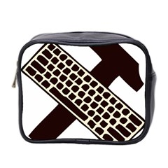 Hammer And Keyboard  Mini Travel Toiletry Bag (Two Sides)