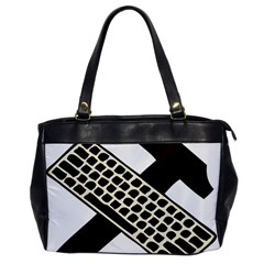 Hammer And Keyboard  Oversize Office Handbag (One Side)