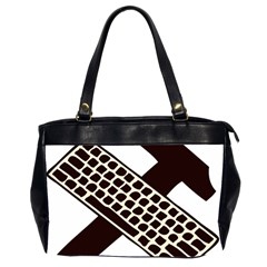 Hammer And Keyboard  Oversize Office Handbag (Two Sides)